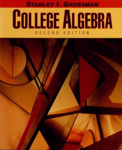 9780030521683: College Algebra