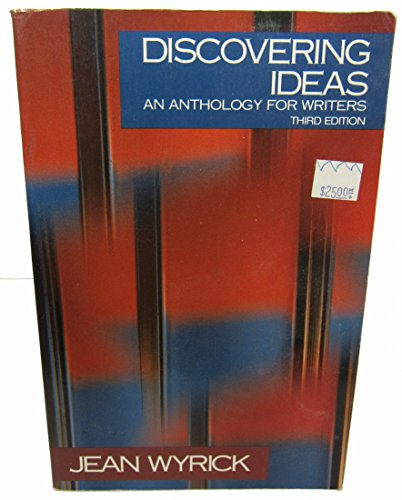 9780030522079: Discovering Ideas: An Anthology for Writers