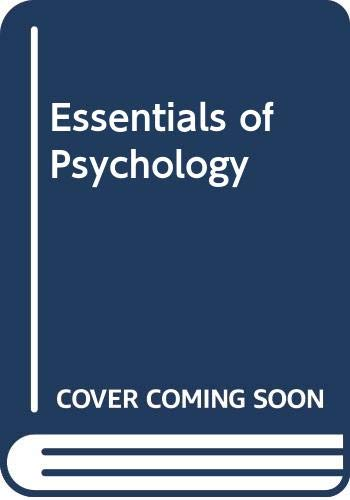 9780030522482: Rathus Essentials of Psychology 3e