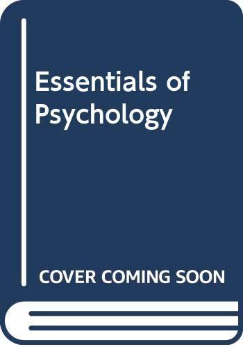 9780030522482: Essentials of Psychology