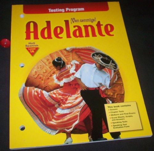 9780030522925: Testing Prg Ven Conmigo! Adelante Lv1 a