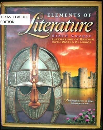 9780030523243: Elements of Literature, Sixth Course, Literature Of Britain With World Classics, Texas Teacher Editi