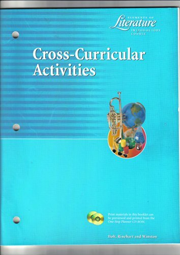 9780030523670: Cross-Curricular Activities Elements of Literature Introductory Course