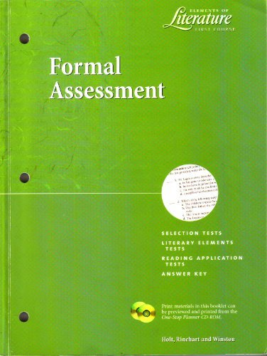 9780030523793: Elements on Literature First Course, Formal Assessment