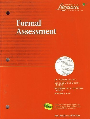 9780030523823: Formal Assesment: Elements of Literature - Second Course (Elements of Literature - Second Course)