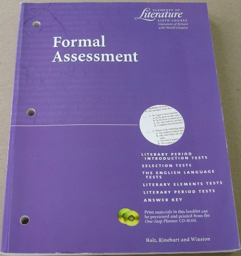 9780030523885: Elements of Literature Formal Assessment Sixth Course