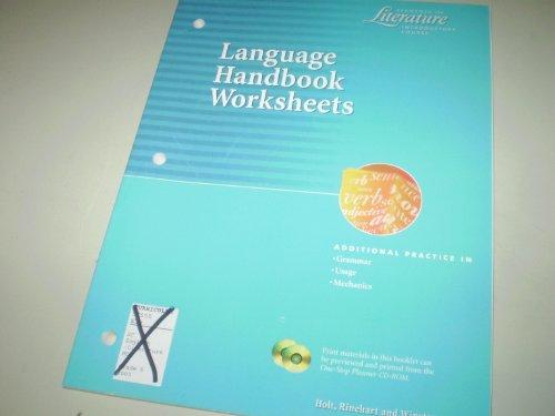 9780030523984: Language Handbook Worksheets, Grade 6 (Elements of Literature Series)
