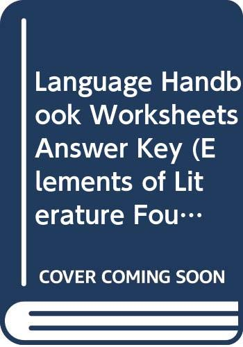9780030524172: Language Handbook Worksheets Answer Key (Elements of Literature Fourth Course)