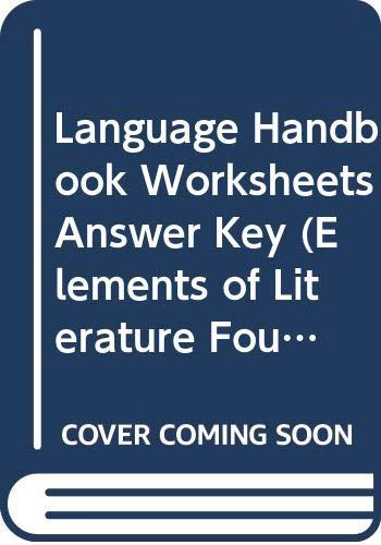Language Handbook Worksheets Answer Key (Elements of: Evler, Mescal