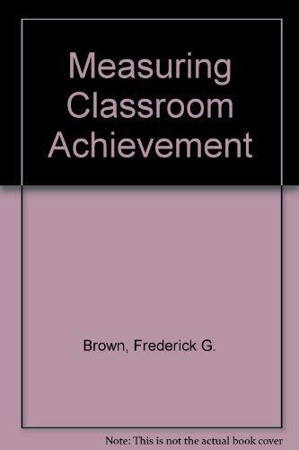 9780030524219: Measuring Classroom Achievement