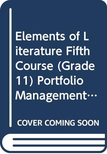 9780030524295: Elements of Literature Fifth Course (Grade 11) Portfolio Management System