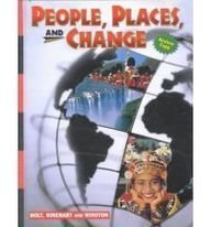 9780030524592: Holt People, Places, and Change: An Introduction to World Studies: Student Edition Grades 6-8 2001