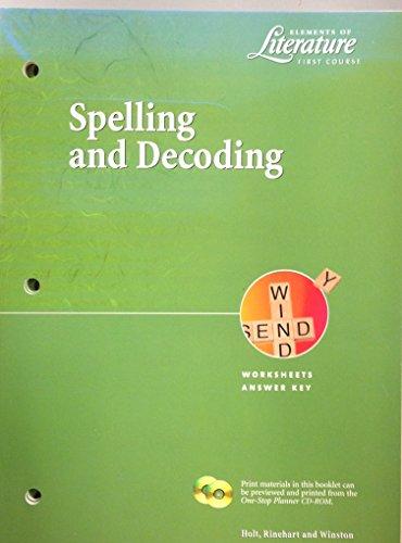 Spell & Decoding Wkshts Eol 2000 G 7: Holt