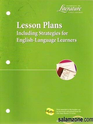 9780030524974: Elements of Literature First Course Lesson Plans, Including Strategies for English-Language Learners (Holt, Rinehart and Winston)