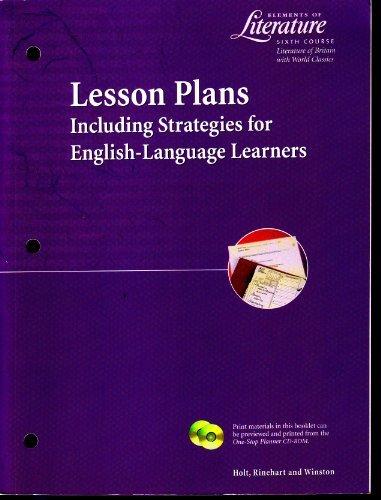 9780030525049: Lesson Plans Eol 2000 G 12