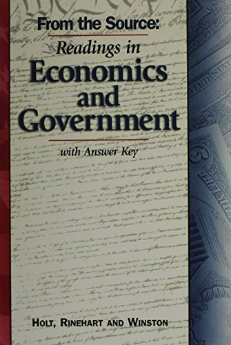 9780030525193: Civics in Practice: Principles of Government and Economics: From the Source: Readings in Economics and Government