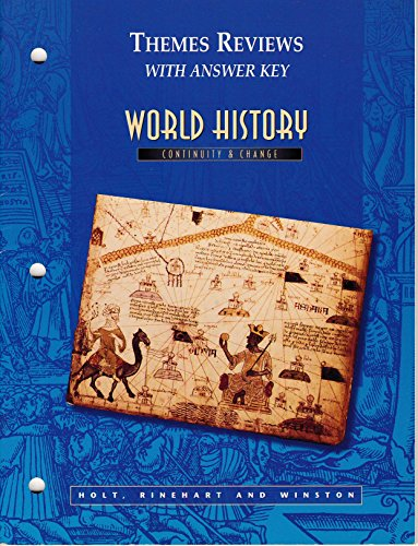 9780030525728: Themes and Reviews with Answer Key (World History Continuity and Change)