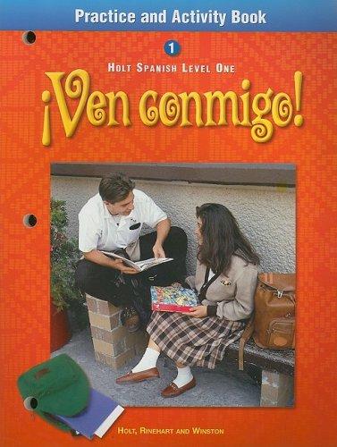9780030526022: ¡Ven conmigo!: Practice and Activity Book Level 1