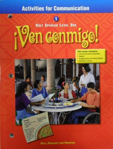 9780030526046: ACT for Comm Ven Conmigo! LV 1 2000 (Spanish Edition)