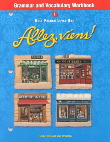 9780030526398: Holt Allez, viens!: Grammar and Vocabulary Workbook Level 1