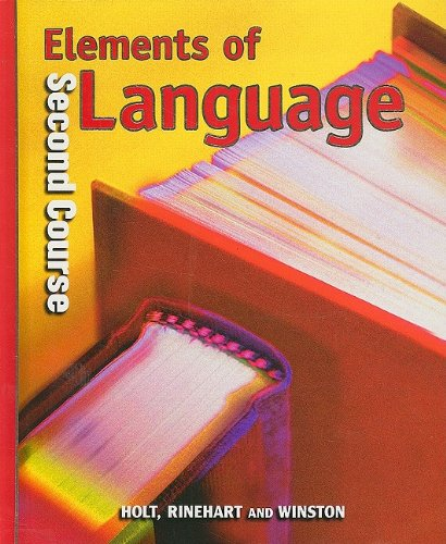 9780030526640: Holt Elements of Language: Student Edition Grade 8 2001