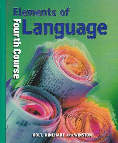 9780030526671: Holt Elements of Language: Student Edition Grade 10 2001