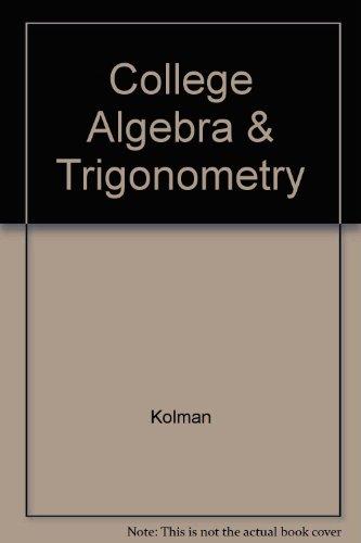 9780030528248: College Algebra & Trigonometry