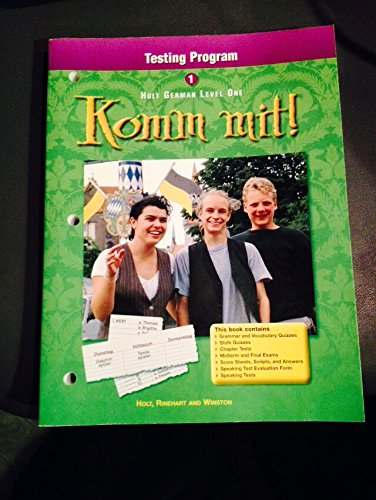 9780030529122: Holt German Level One Testing Program Komm Mitt! (Komm Mit!)