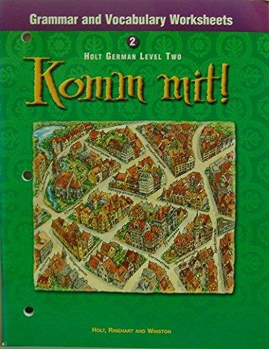 9780030529276: Komm mit!: Grammar and Vocabulary Workbook Level 2