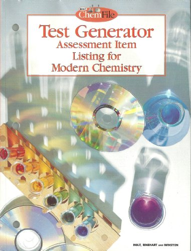 Test Generator Assessment Item Listing for Modern: Holt Rinehart &