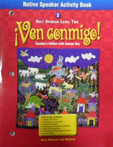 Native Speaker Activity Book Spanish 2 (Ven: Holt