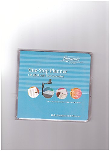 9780030530739: One-Stop Planner CD-ROM with Test Generator (Elements of Literature Introductory Course)