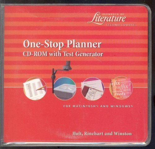 9780030530777: One Stop Planner (Elements of Literature: Second Course)