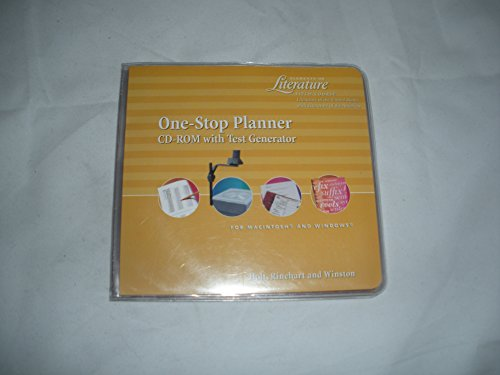 9780030530821: One Stop Planner CD-ROM with Test Generator (Elements of Literature Fifth Course)