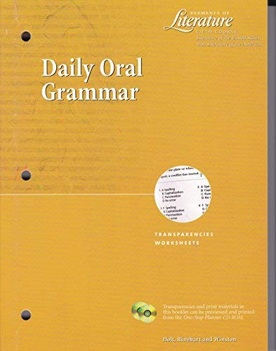 9780030531088: Elements Of Literature; Fifth Course; Daily Oral Grammer