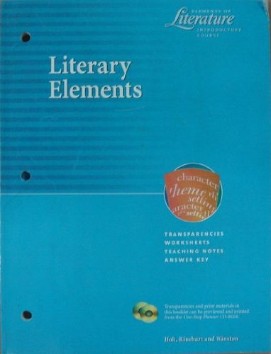 9780030532177: Literary Elements - Elements of Literature Introduction Course