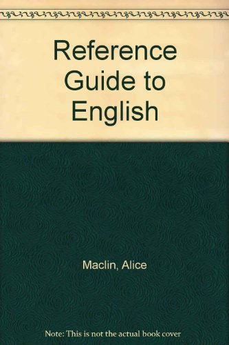 9780030532269: Reference Guide to English