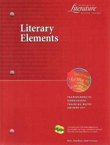 9780030532436: Literary Elements (Transparencies, Worksheets, Teaching Notes, Answer Key) (Elements of Literature, Second Course)