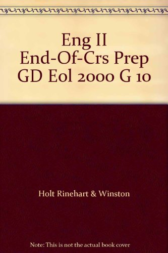 9780030532535: Eng II End-Of-Crs Prep GD Eol 2000 G 10