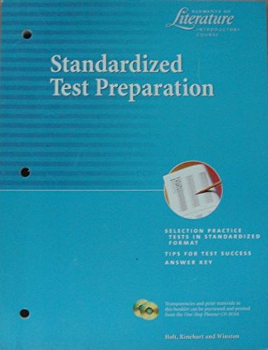 9780030532771: Holt Elements of Literature: Standardized Test Prep Grade 6 (Elemts of Literature 2000)
