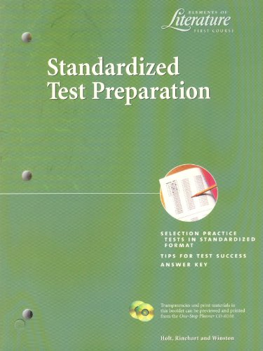 9780030532788: Holt Elements of Literature: Standardized Test Prep Grade 7 (Elemts of Literature 2000)