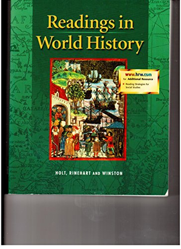 9780030533587: United States History, Grades 6-8 Readings in World History: Holt Socal Studies