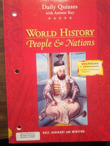 9780030533778: Daily Quizzes With Answer key, World History: People & Nations