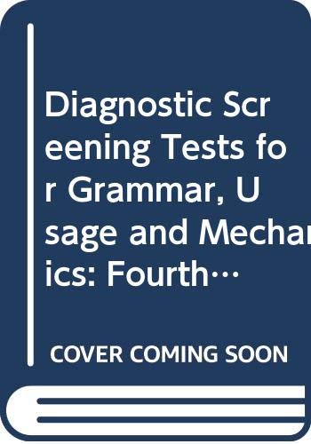 9780030535420: Diagnostic Screening Tests for Grammar, Usage and Mechanics: Fourth Course