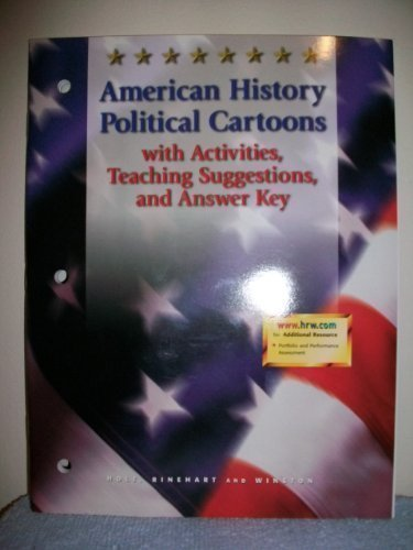 9780030536687: American History Political Cartoons with Activities, Teaching Suggestions, and Answer Key