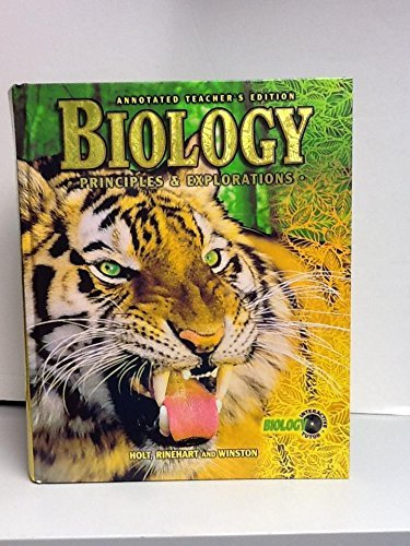 9780030538346 Biology Principles And Explorations