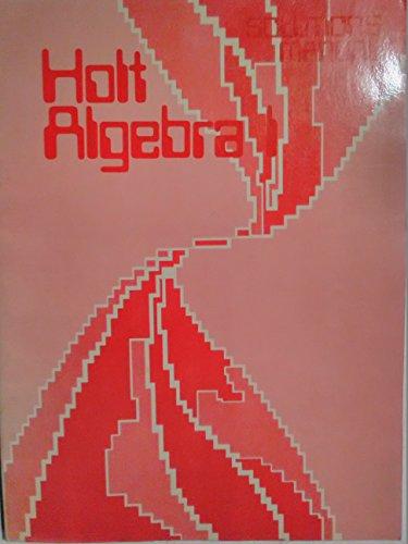 9780030539015: HOLT ALGEBRA-1 Solutions Manual