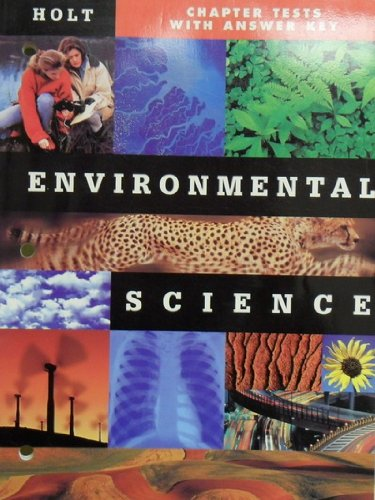 9780030539138: Environmental Science: Chapter Tests with Answer Key