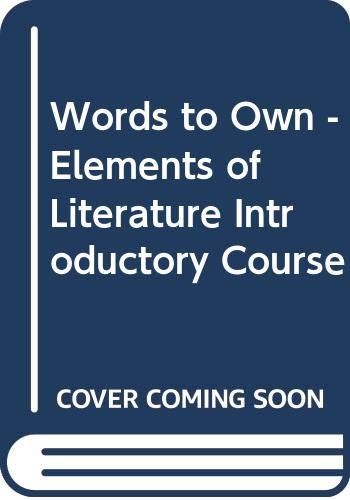 9780030539244: Words to Own - Elements of Literature Introductory Course