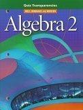 HRW Algebra 2 Quiz Transparencies (Holt, Rinehart and Winston): Rinehart and Winston Holt